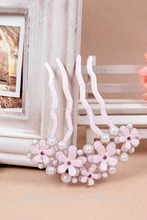 moda acetato de celulose flores forquilha do cabelo para as mulheres