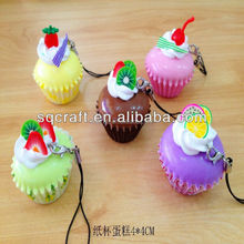Cute food model artificial fruit cupcakes for house decoration