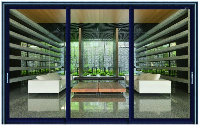 moderna de aluminio puerta corredera exterior puertas plegables de vidrio exterior puertas correderas de cristal