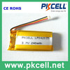 CHINA cheapest 3.7V li-polymer battery 240mAh 042035 3.7V lithium battery