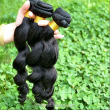 8A Unprocessed Virgin Brazilian Loose Wave Hair Natural Black
