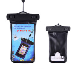 pvc waterproof cellphone bag with snap button outdoor phone dry sack