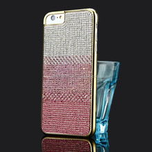 Fashionable Gradient Colorful Full diamond phone case for Iphone 6