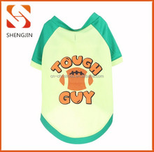 Hot sale yellow green cotton print Pet apparel Dog T-Shirt summer Clothes