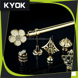 foshan factory supplier new design curtain rods with excellent curtain accessories