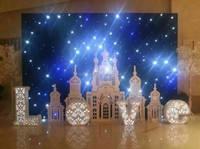 HI-COOL led star curtain wedding decoration white backdrop light