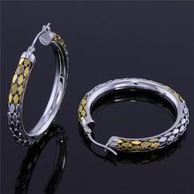 Yiwu Aceon 18k gold plated hollow Chain fashion Hoop stainless steel earring