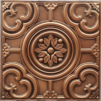 faux tin painting metallized ceiling tiles 3D embossed old age metallized ceiling panels & metallized wall panels