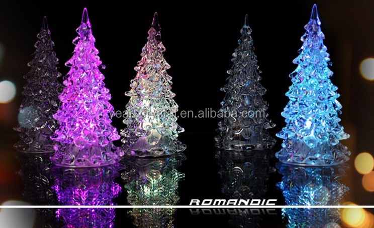 Years crystal small cheapest acrylic crystal christmas trees with