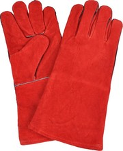 Long sleeve leather working gloves