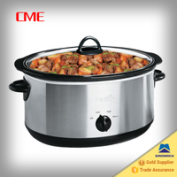 7-Quart Oval Manual Slow Cooker, Stainless Steel