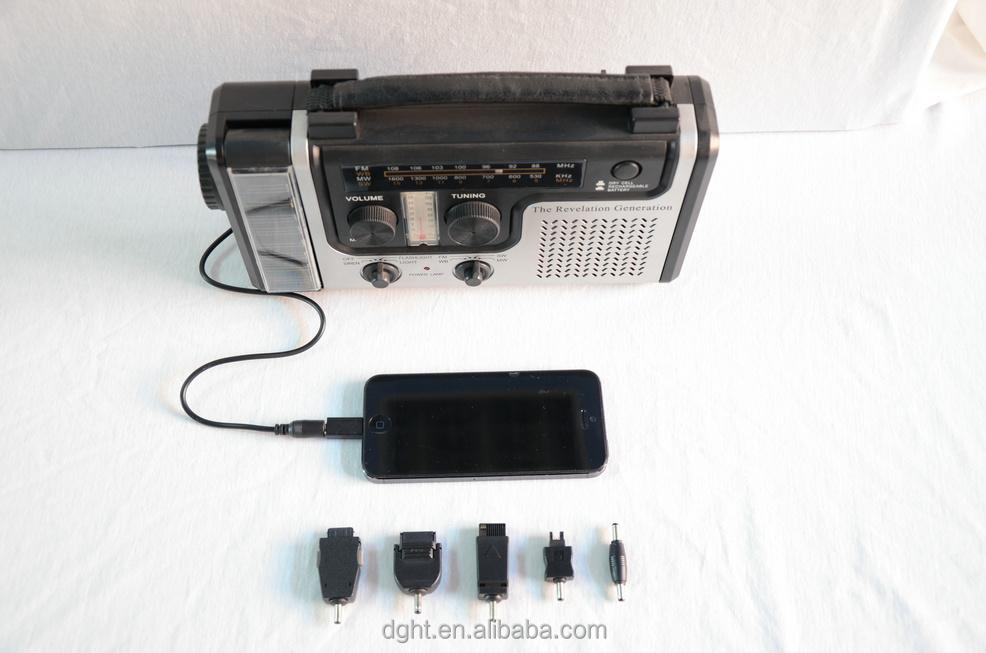 Melhor de sobrevivência de emergência Solar Radio W/ mão Crank Dynamo lanterna Smartphone carregador leitura levou lâmpada