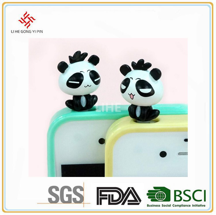 Personnalisé PVC animaux Anti - poussière Plug bouchon de poussière de Panda