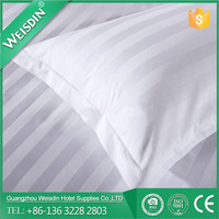 WEISDIN best selling 100% cotton white 3cm strip quilted pillow cases