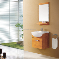 Small Water Proof Oak Floating Wall Cabinet (AP-L3356)