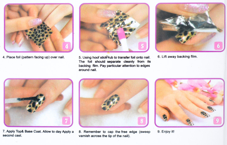 Nail Foil Set With Adhensive