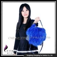 CX-H-54A Korea Fashion Royal Blue Fox Fur Women Hand Bags
