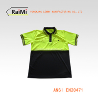 china supplier Promotional Logo Printed High Visibility Safety Reflective polo
