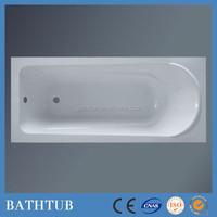 Cheap 1600 rectangular drop in acryllic bathtub shell for contractors