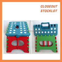 Easy fold sturdy plastic foot step chair liquidation closeout