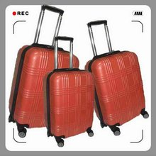 Red Color Hard Shell ABS Trolley Luggage