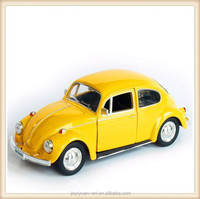 Factory Price Yellow Metal Classic Car Toys, Antique Metal Car Toy for kids