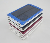 Universal solar power bank/solar battery charger Li polymer battery 10000mAh dual usb output