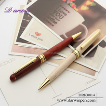 Custom logo factory price twist wood pen for business