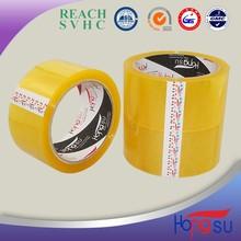 Made in China Hongsu Carton Sealing Yellowish Tape 2015