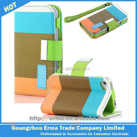 PU Wallet Magnetic leather mobile phone case for iphone 5