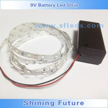 IP65 DC9V Battery Powered LED Strip Light For Clothes Portable Advertisement decoration