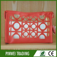 leather pvc cosmetic bag mini makeup bag promotional leather cosmetic bag