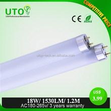 Led lighting tube bulbs save 70% energy 18W T8 120cm cool white