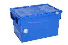 600x400x365mm Plastic Heavy Duty Storage Bins with Lids