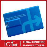 Most Fashionable Business Card USB Pen Drive with Custom Logo