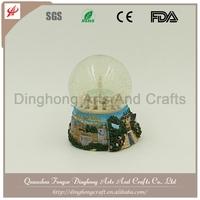 Custom Made Polyresin Glass Snow Water Globe Elephant Snow Globe