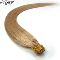 Wholesale I tip straight Remy Fusion Keratin Hair Extensions 100% human hair 0.4g-0.5g/s 16 18 20 24inches OEM available