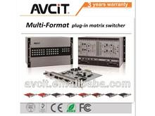 1080p 3d seamless hd hybrid multi-format 8*8 routing video matrix switcher