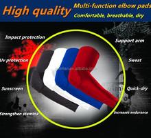 2015 New PRO Sports Wrist Brace Anti Collision Sleeve Long High Elastic Slip Protective Cellular Basketball Elbow 1008