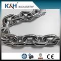 Profesional Kunhong alta calidad galvanizado DIN766 10 mm cadenas de acero inoxidable