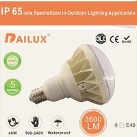 factory sell Epistar SMD5630 IP65 E39 E40 rotated lamp base 40w led par light bulb