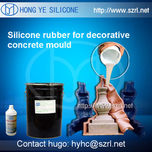 Addition cure silicone rubber for concrete mold making