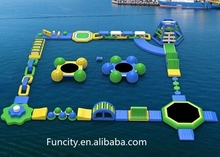 Competitive price giant inflatable floating water park/commercial aqua park/inflatable aqua water park