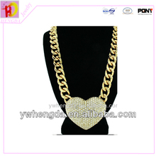 Manufacture supply loverly gold jewelry with diamond chain necklace