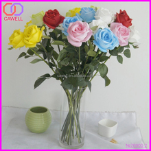 China yiwu wholesale PU real touch rose artificial flowers