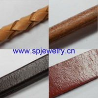 cowhide leather cord, many shapes and colors for choice