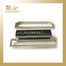 metal name plate belt buckles