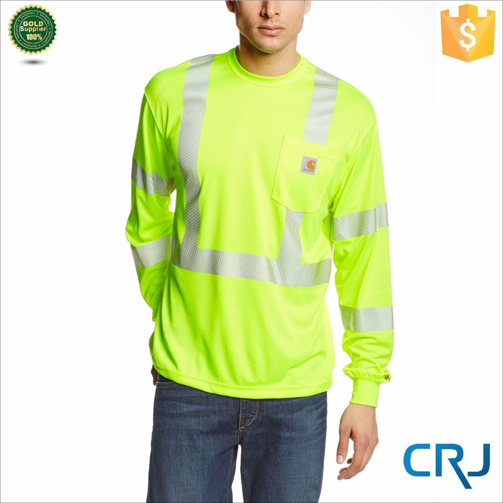 Custom hi vis 3m workwear t shirt safety work wear shirts for Custom hi vis shirts