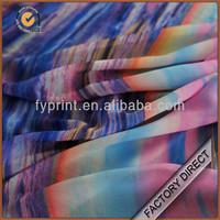 Digital print silk chiffon fabric / silk chiffon fabric prices / printed silk chiffon fabric