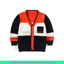 High Collar Boys Cotton Sweater 2014 Winter Style Children Outfits